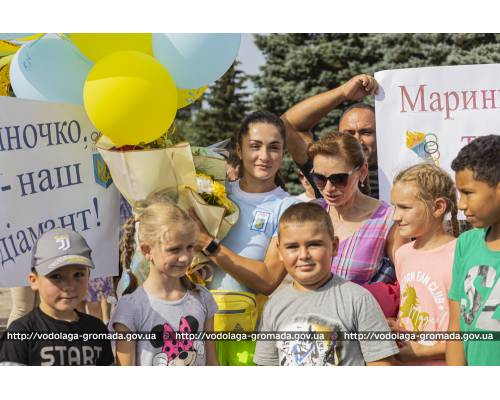 Зустріч учасниці Олімпійських ігор Марини Килипко